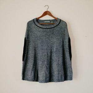 Heather Blue Cape Sweater